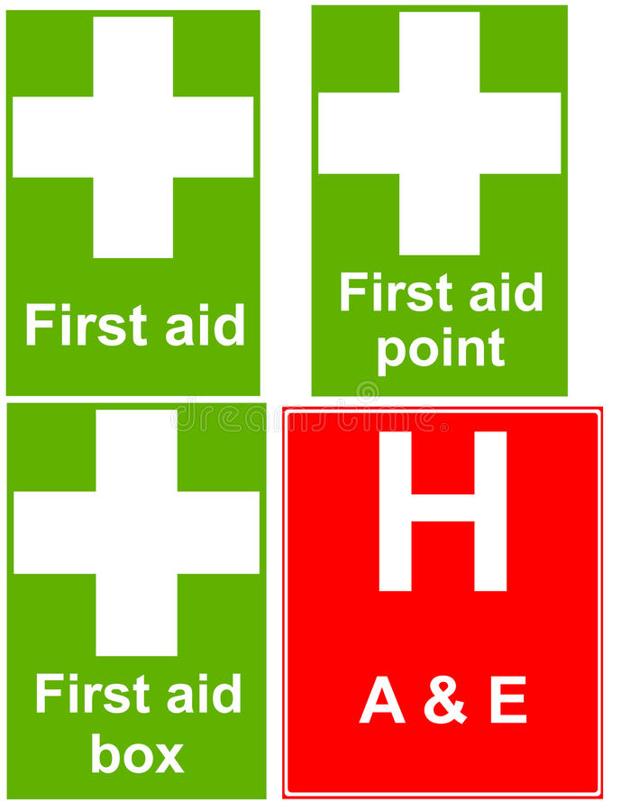 Download First aid signs stock illustration. Image of accident - 38672924