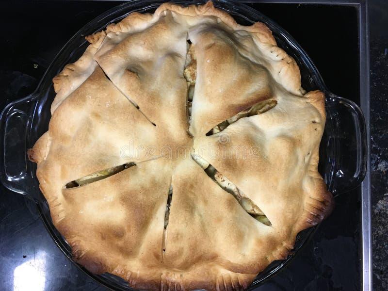 First Apple Pie of 2017! stock photos