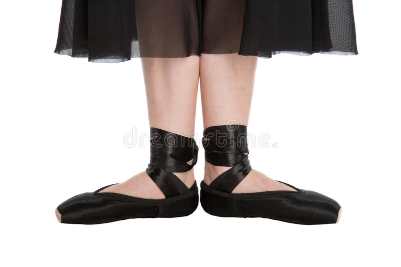 The first ballet position stock photography