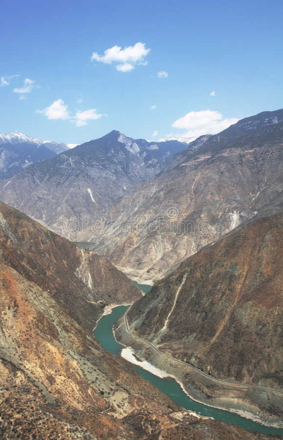 The First Bend of the Yangtze River stock images