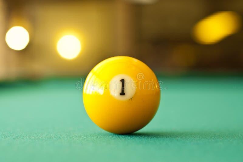 First billiard ball