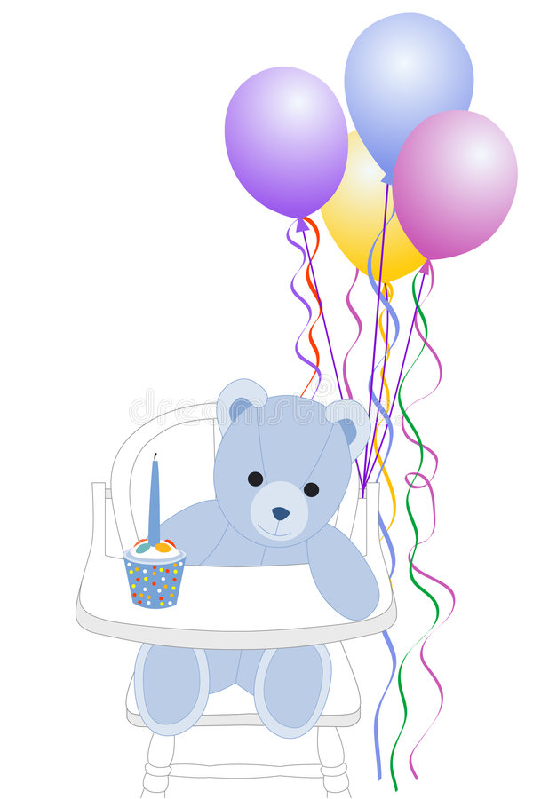 First Birthday stock illustration