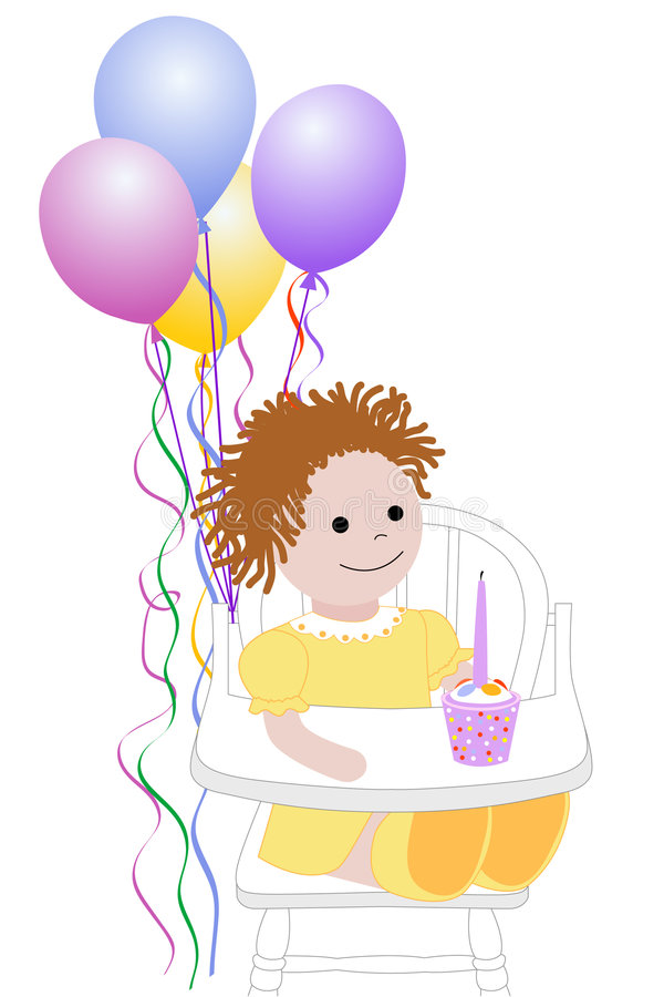 First Birthday stock illustration