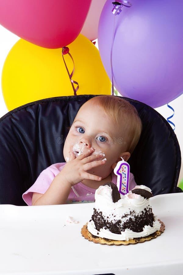 First birthday royalty free stock photos