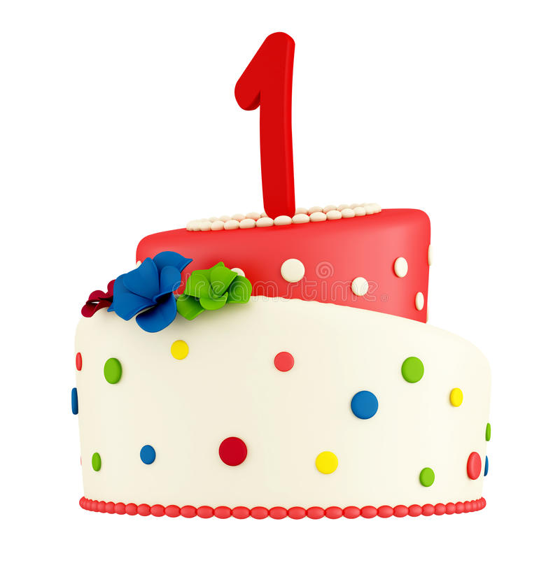 Download First birthday cake stock illustration. Image of blue - 22142515