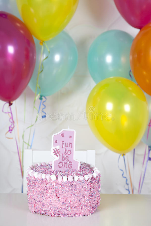 First birthday cake stock photography
