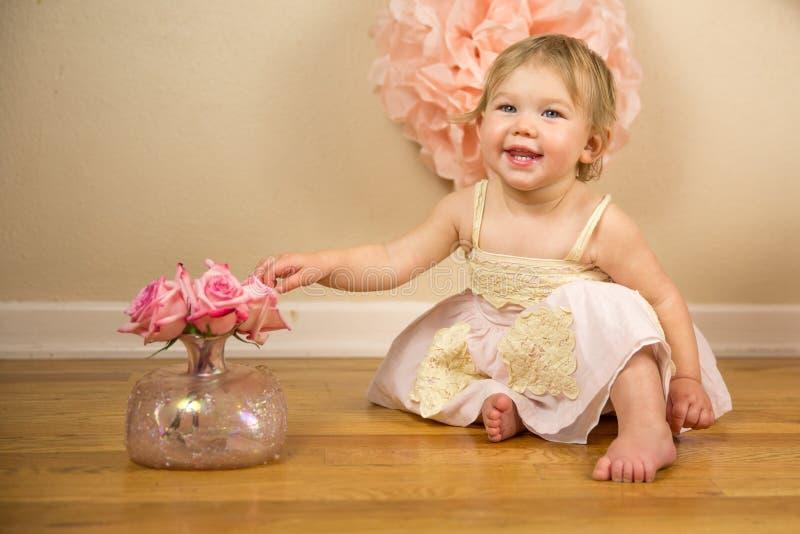 First Birthday Photoshoot. 1st Birthday and Cakesmash Photoshoot royalty free stock photography