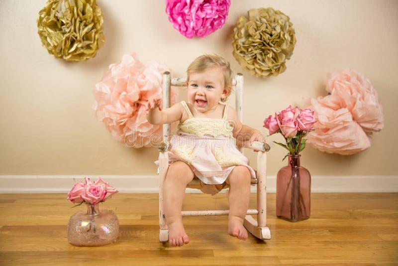 First Birthday Photoshoot. 1st Birthday and Cakesmash Photoshoot stock image