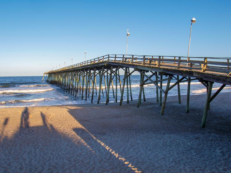 Kure Beach Pier in North Carolina royalty free stock images