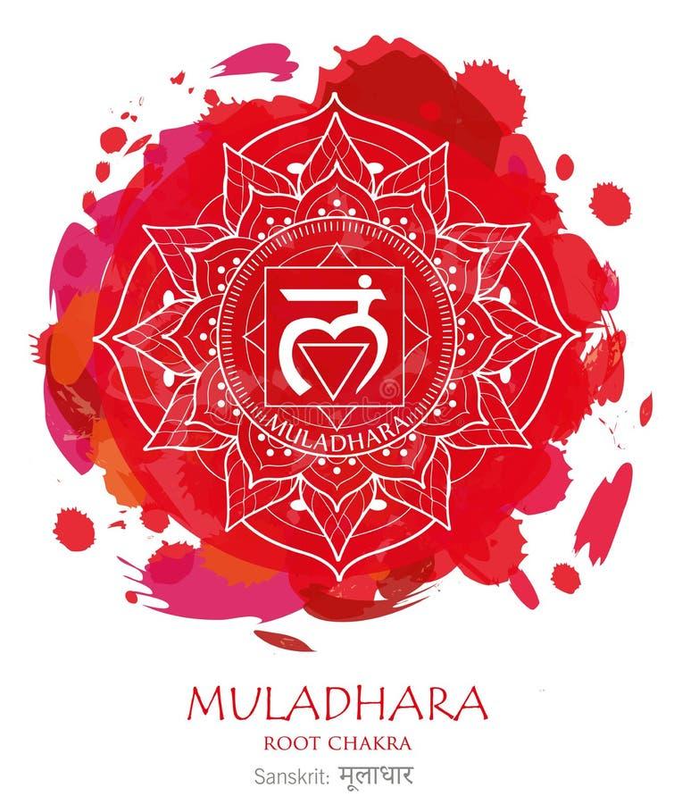 Muladhara chakra stock photos