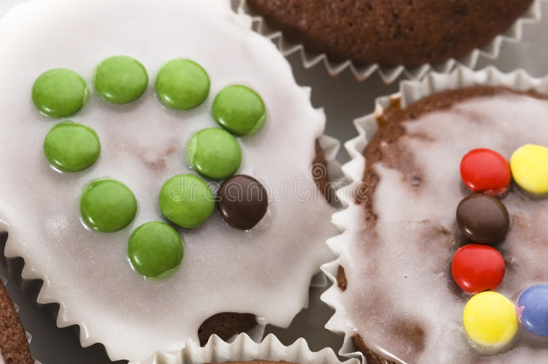 Christmas Tree Muffins Stock Photo. Image Of Iced, Party