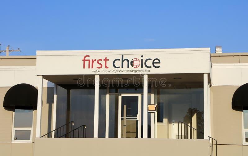 First Choice sprzedaże i Marketingowa grupa obrazy royalty free