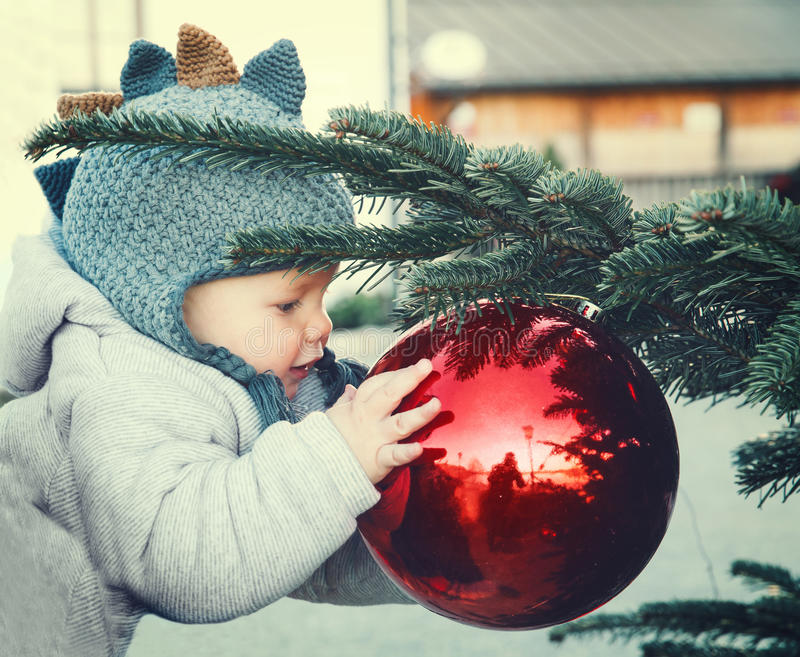 The first Christmas and New Year! royalty free stock images