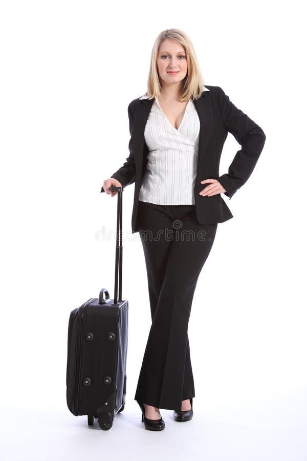 First Class Business Travel Beautiful Young Woman Stock Photos