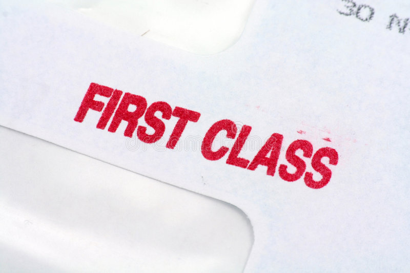 First class mail. Business concept royalty free stock images