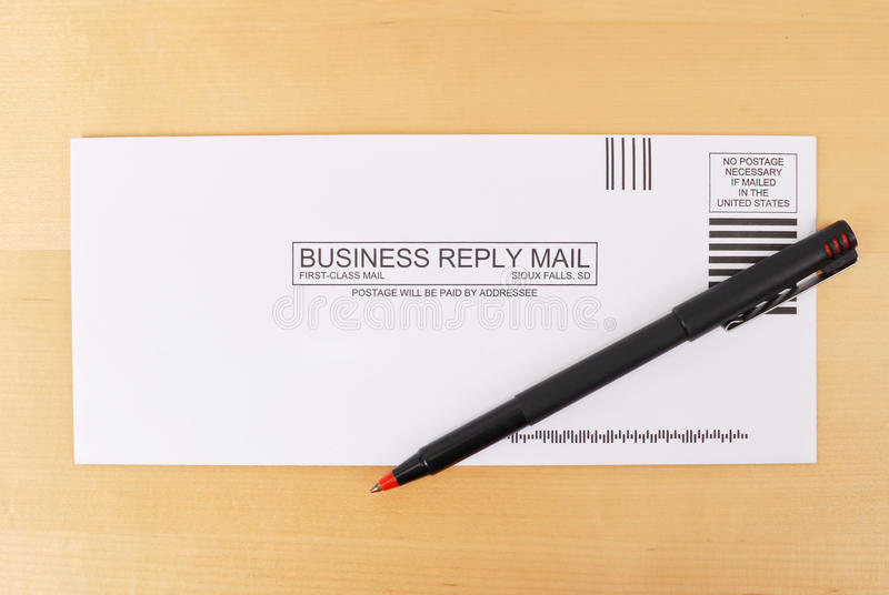 First Class Mail. First Class Business Reply Mail royalty free stock photos