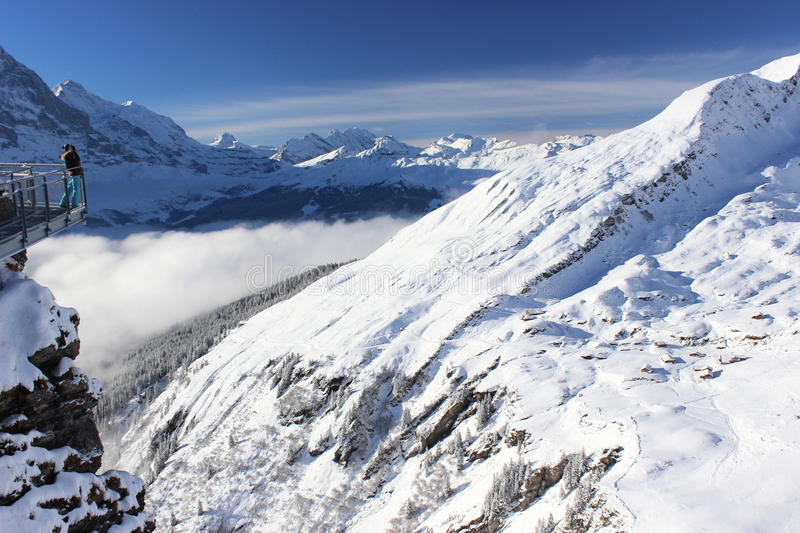 The First cliff, Jungfrau region, Switzerland royalty free stock photos