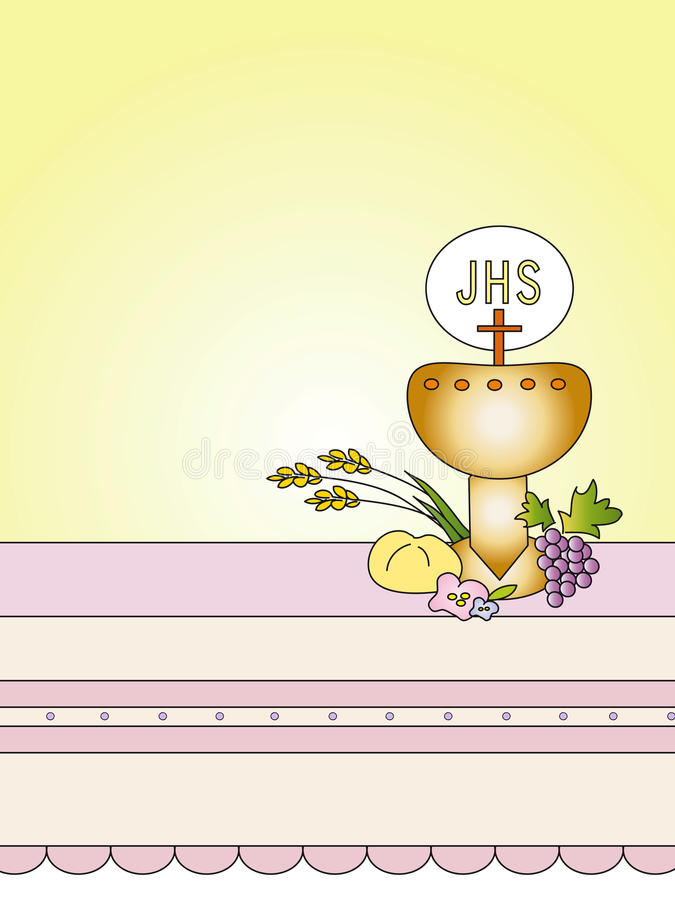 Download First Communion stock illustration. Image of blood, clipart - 23429280