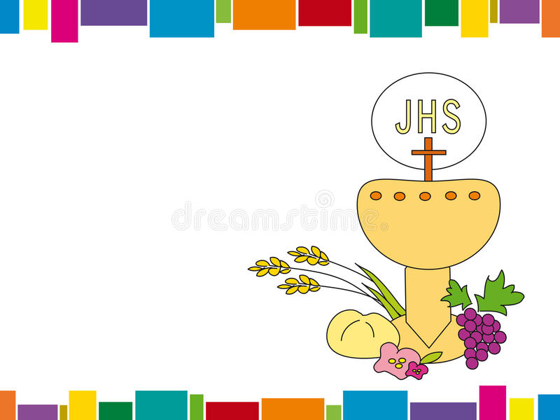 First Communion stock illustration