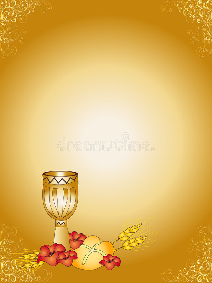 First Communion royalty free illustration