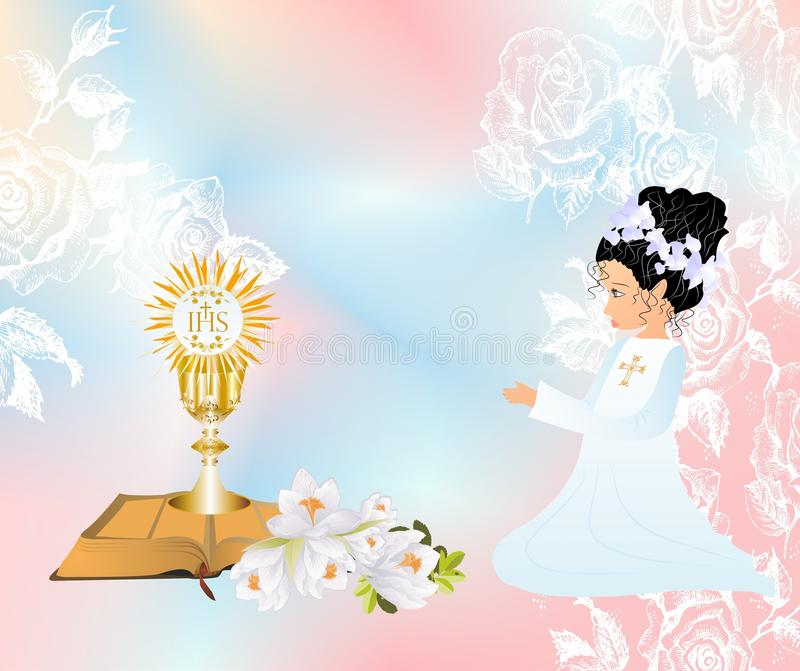 First Communion Stock Illustration Illustration Of Catholic 69104209