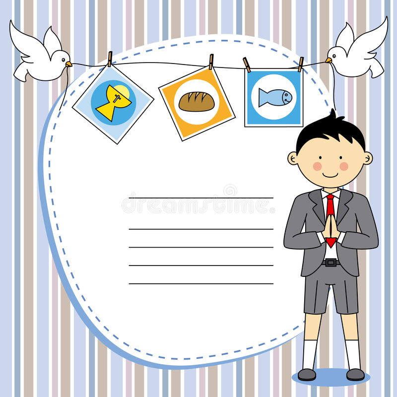 First Communion Boy stock illustration