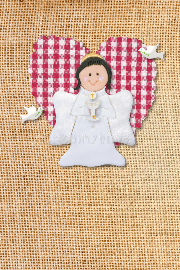 Download First Communion Card, Angel Stock Photos - Image: 23159593