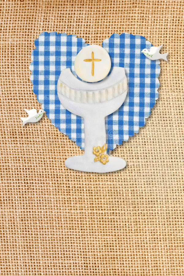 Download First Communion Card,chalice Stock Illustration - Image: 23159617