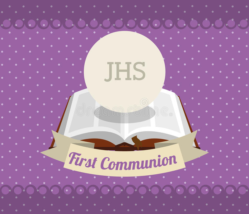 First communion card design. Vector illustration eps10 graphic royalty free illustration