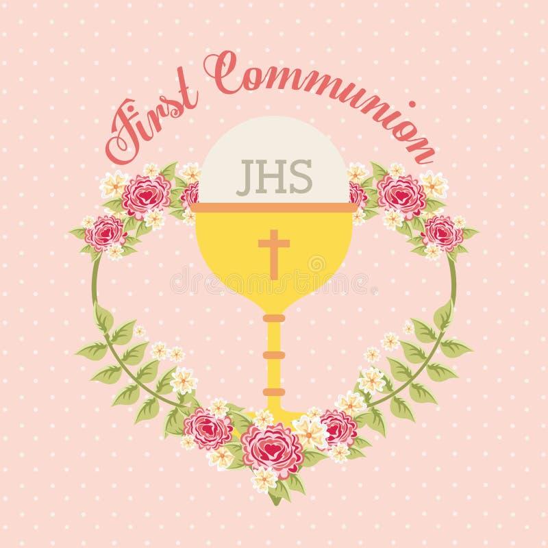 First communion design. Vector illustration eps10 graphic vector illustration