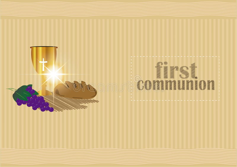 The First Communion, or First Holy Communion royalty free illustration