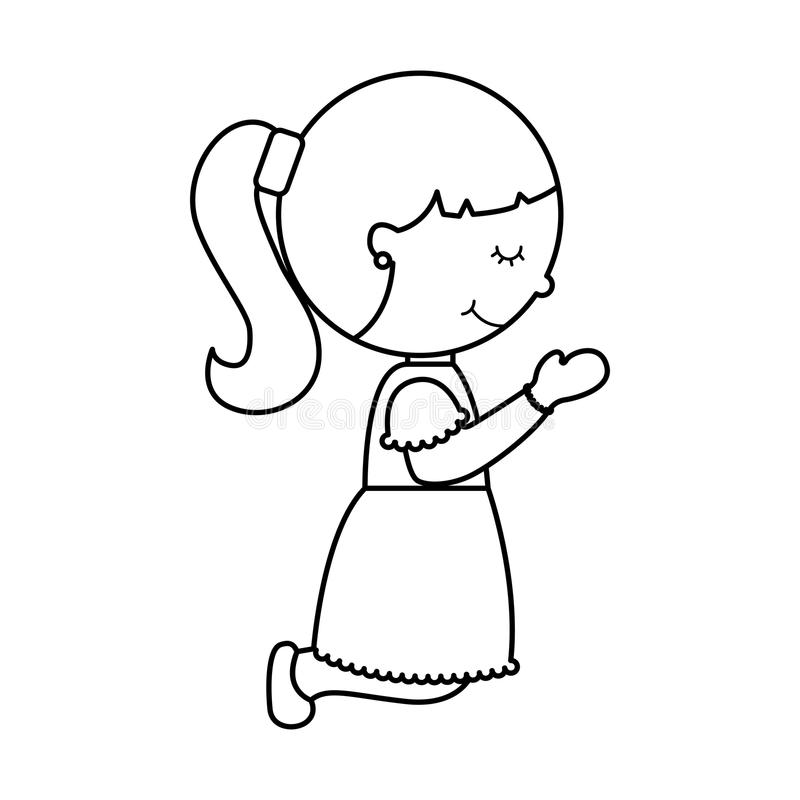 First communion girl character. Illustration design stock illustration