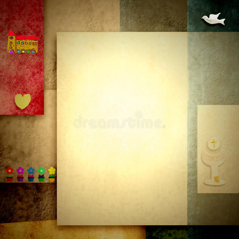 Download Holy Communion Invitations, Blank Space For Photo Or Write Stock Illustration - Image: 29741445