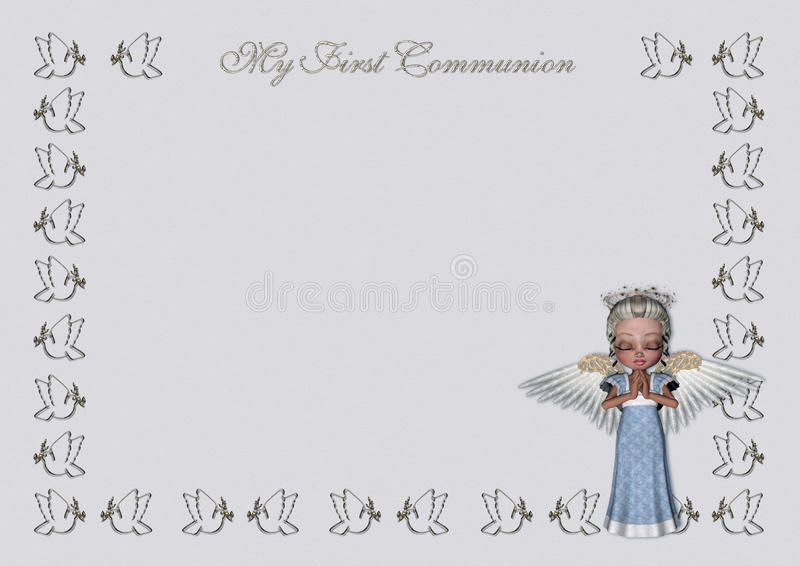 Download First Communion Invitation/menu Stock Illustration - Image: 13234964