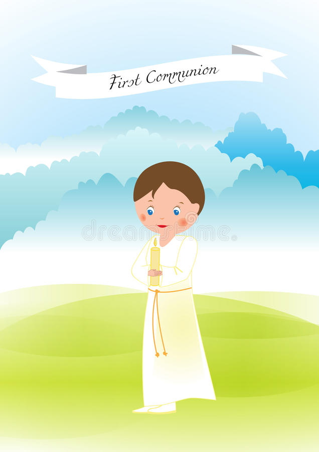 Download First communion stock vector. Image of decoration, eucharist - 83720953