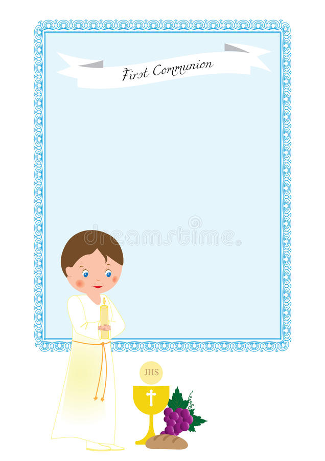 Download First communion stock vector. Image of flowers, chevron - 83721117