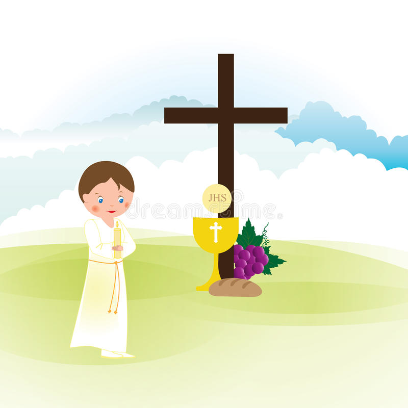 Download First communion stock vector. Image of child, chevron - 83721450