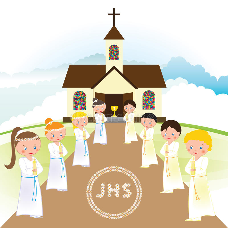 Download First Communion Stock Vector - Image: 83720720