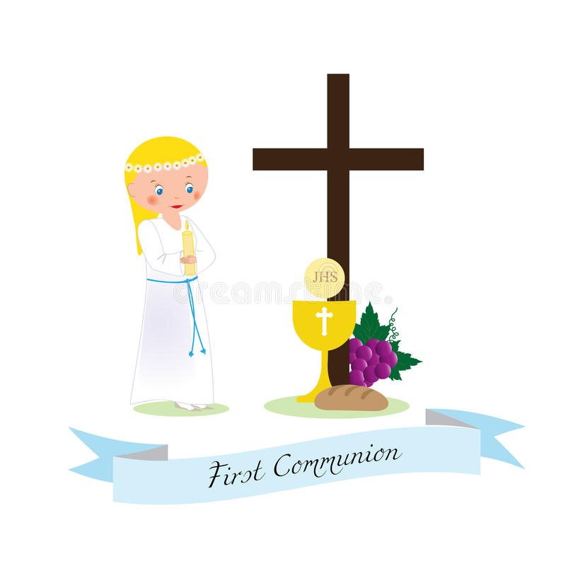 Download First communion stock vector. Image of communion, design - 83721087