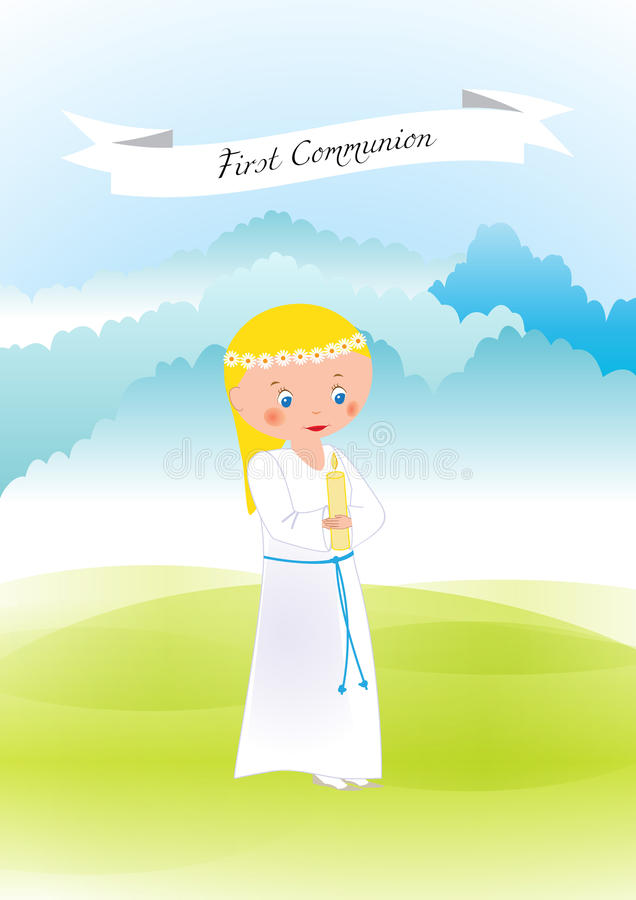 Download First communion stock vector. Image of holy, catholic - 83721097