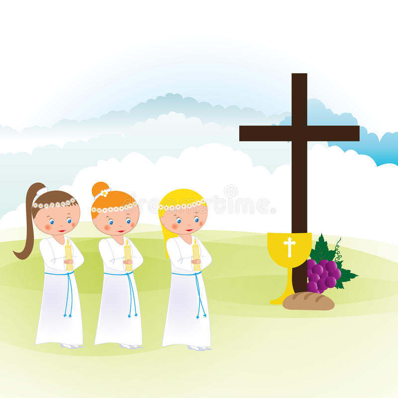 Download First Communion Stock Vector - Image: 83721082