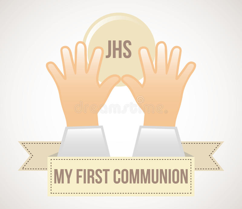 First communion. Over white background vector illustration vector illustration