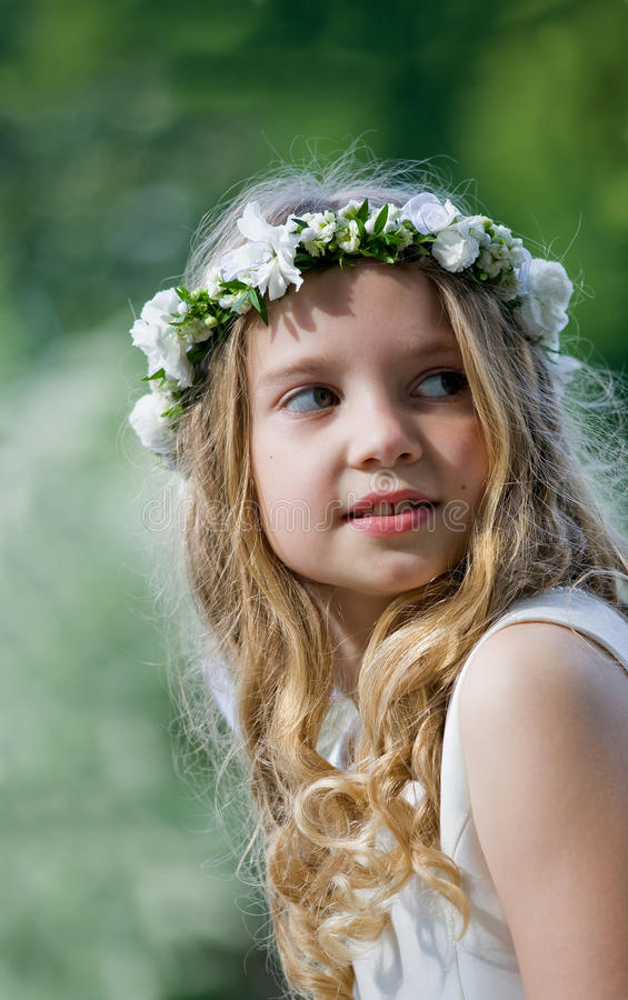 Download First Communion - portrait stock photo. Image of color - 24786742