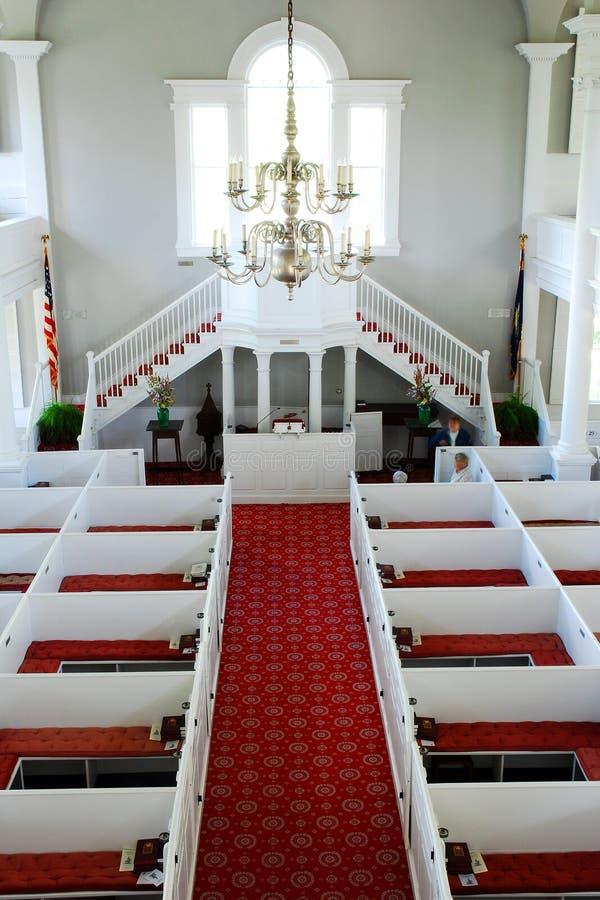 First Congregational Church in Bennington Vermont. The Interior of First Congregational Church in Bennington Vermont, as seen from the choir loft stock images