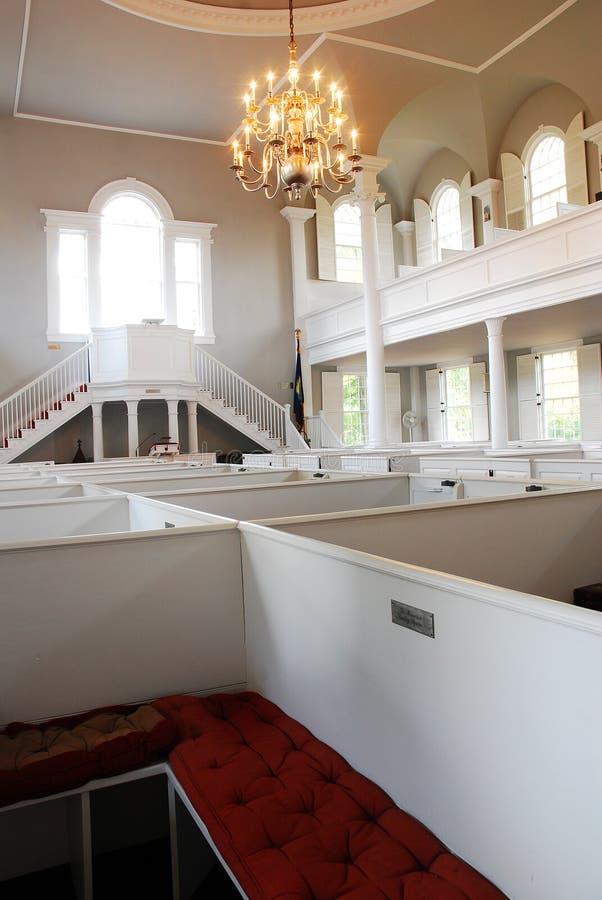 First Congregational Church, Bennington, Vermont. The Interior of the First Congregational Church, Bennington, Vermont, is designed in a classic New England royalty free stock photos