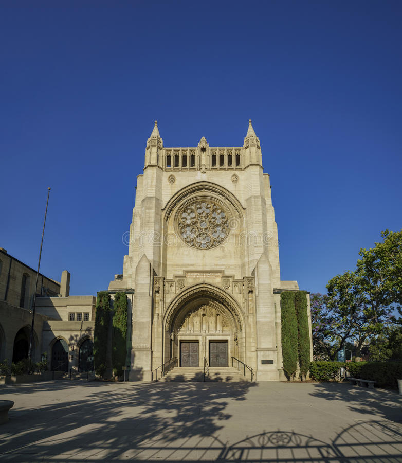 First Congregational Church of Los Angeles. Los Angeles, MAY 28: The historical First Congregational Church of Los Angeles on May 28, 2017 at 540 South royalty free stock photography