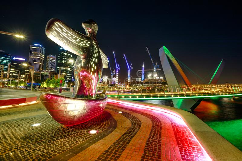 First Contact Sculpture in Perth royalty free stock image