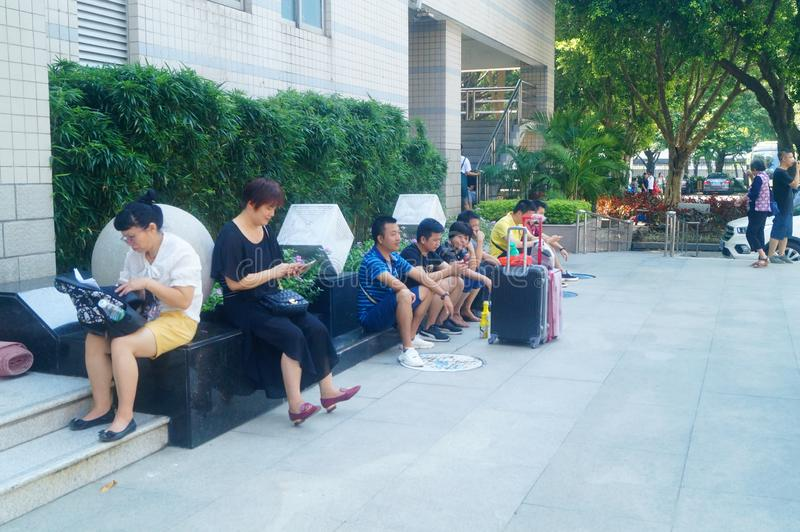 Guangzhou, China: on the first day of college, many freshmen arrive at the university campus. On the first day of college in guangzhou, many freshmen come to the royalty free stock photography