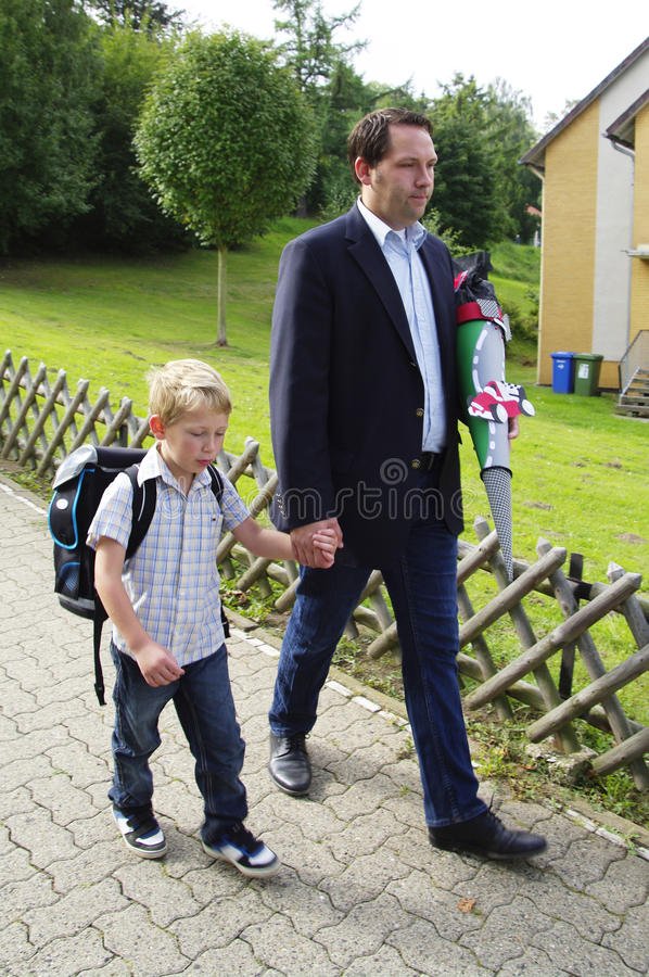 First day at elementary school stock photos