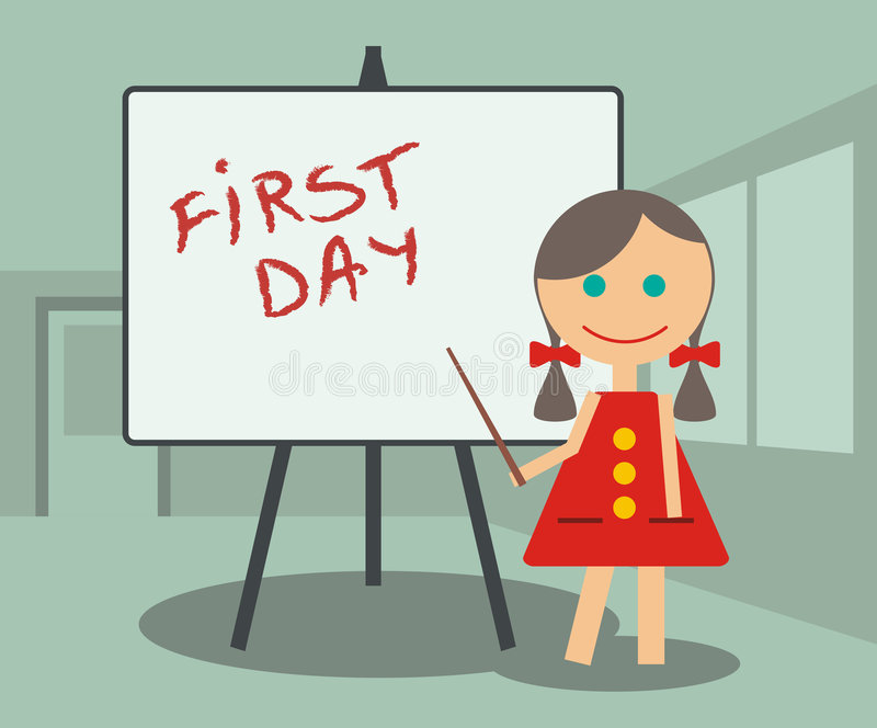 Download First Day at School stock vector. Image of learning, experience - 8410143